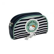 Νεσεσέρ οβάλ μπλέ-φυστικί ριγέ Hello Kitty