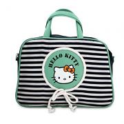 Τσάντα Μπλε-φυστικί ριγέ Hello Kitty