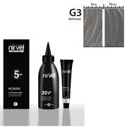 Βαφή μαλλιών για άντρες σε σκούρο γκρι χρώμα by Nirvel